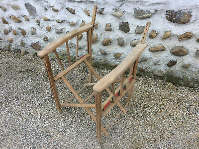 Antique armchair folding wooden camping vintage at restore deco years 1950
