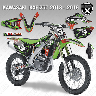 Kawasaki KX250F 2013 2014 2015 2016 Sticker Kit