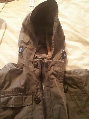 Boys Marks and Spencer light weight jacket with hood age 7.8