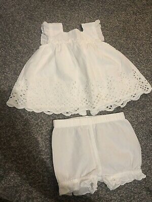 Next Girls White Summer Top And Shorts - Up To 3 Months