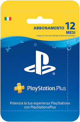 Abbonamento PLAYSTATION PLUS 12 Mesi - 365 GIORNI PSN PS4 PS3 PS Vita - ITALIA