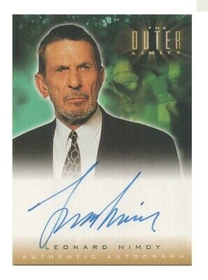The Outer Limits Ultra Rare Authentic Autograph Card Leonard Nimoy -T Cutler