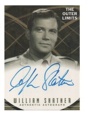 The Outer Limits Ultra Rare Authentic Autograph Card A4 William Shatner Scarce