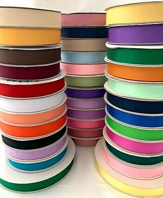"""7/8"""" Grosgrain Ribbon Polyester Solid Assorted Colors Spool 50 100 yds"""