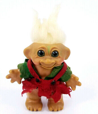 Rare Vintage Thomas Dam 1960'S Original Troll Doll Bank Blonde Hair 7""
