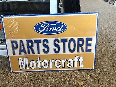 Motorcraft Ford Parts Store Repro Metal Sign