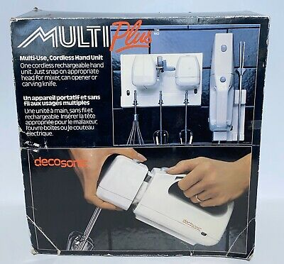 Decosonic MultiPlus Combo Cordless Hand Mixer - Carving Knife - Can Opener