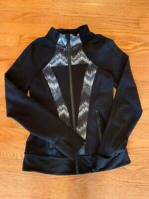 Girls IVIVVA by Lululemon athletic full zip jacket sz 12 (perfect condition)