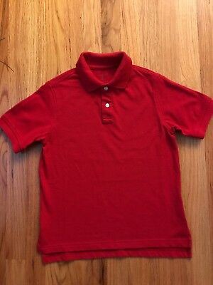 NWT Boys ARROW Red School Uniform Polo Shirt Size Large L 12-14