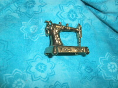 Antique Sewing Machine Made In England Miniature Novelty Item Vintage