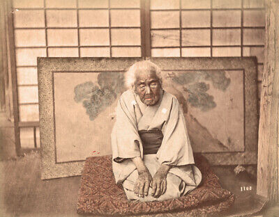 Vintage 1886 (dated) Photograph of a102 old Japanese Woman