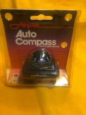 Airguide Compass Low Profile Made In USA New Old Stock