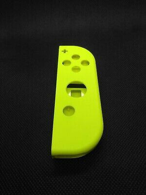 OEM Nintendo Switch Joy Con RIGHT NEON YELLOW Complete Shells Housings Set 2454
