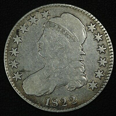 1822 Capped Bust Silver Half Dollar - Cleaned