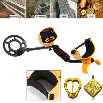 New Waterproof LCD Metal Detector Gold Digger Deep Sensitive Hunter Search Coil