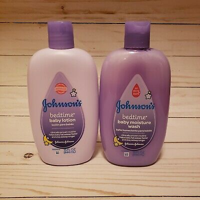 NEW Set Of Johnsons Bedtime Baby Wash And Baby Lotion 30 Oz.
