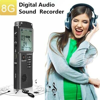 8GB 650Hr USB LCD Screen Digital Audio Voice Recorder Dictaphone MP3 Player AUS