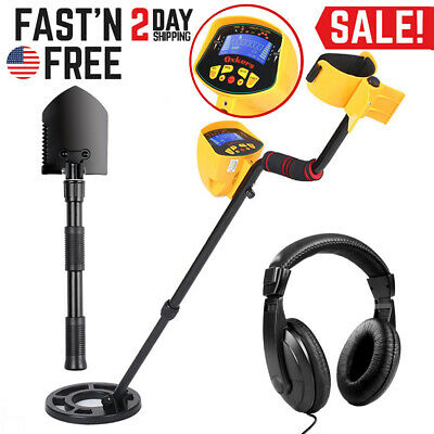 Waterproof LCD Metal Detector Deep Sensitive Gold Digger Hunter Coin w/ Shovel