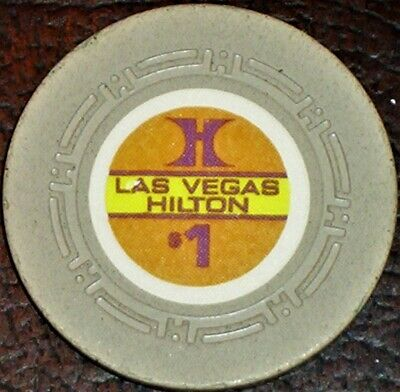Old $1 LAS VEGAS HILTON Hotel Casino Poker Chip Vintage Antique HCE Mold NV 1971