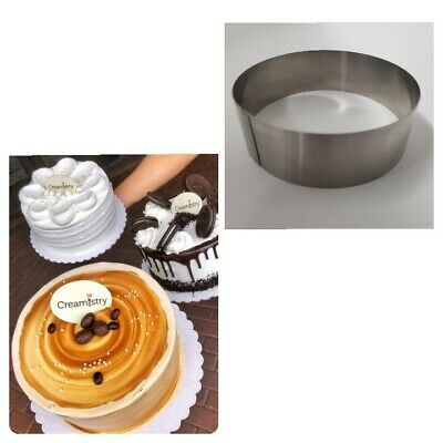 """Lot of two (2) New Commercial  Heavy Duty 6"""" x 2"""" Stainless Steel Cake Ring"""