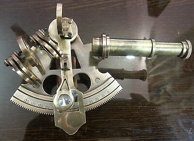"""Antique Brass Nautical Sextant 3"""" Vintage Navigation Collectable gift Ships"""