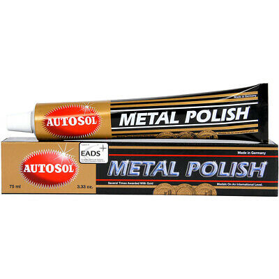 NEW Autosol Mx 75ml Motorcycle Metal Chrome Brass Copper Polish Tube + FREE Rag