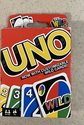 Mattel Games Uno Card Game with Customizable Wild Cards Uno New!!