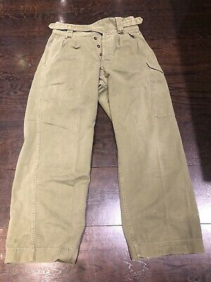 Rare Genuine Ex Australian Army 60s Gurkha Cross Over Pants Sz 7