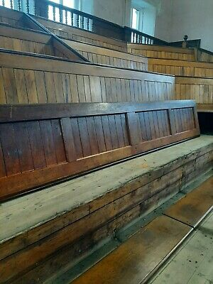 Solid Pitch Pine panelling from backs of church pews circa 1903