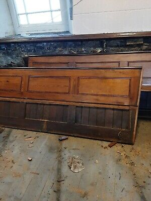 Solid Pitch Pine panelling from backs of church pews circa 1903 (Per foot)