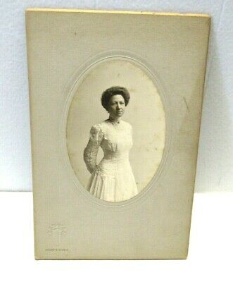 Cabinet Card Photo, Young Lady Portrait Sharp's Studio