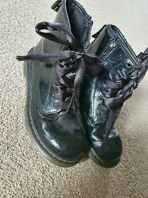 Girls patent Dr martin boots size 2