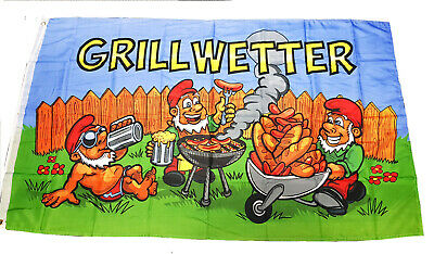 Grillwetter Flagge Fahne 90x150 cm Fahne  Sommer Grill wetter Spass Flagge NEU