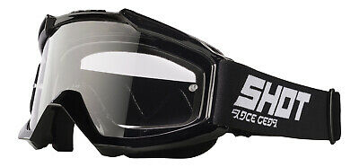 Shot Motocross Goggles Mx Enduro - Assault Black Glossy