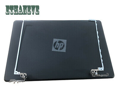 New HP 15-bs212wm 15-bs289wm black LCD back cover top case Rear lid+hinges