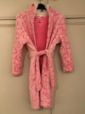 Girls patterned dressing gown age6-7 yrs -Hardly used, great condition