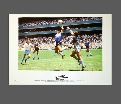 Diego Maradona Hand Signed Argenta  A2 Football Photograph