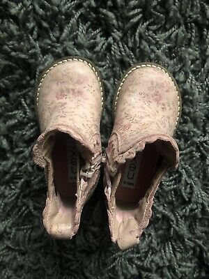 Girls Infant Next Pink Floral Boots Size 3