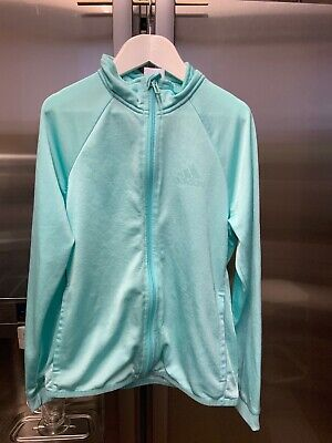 Kids Girls Adidas Light Green  Full Zip Tracksuit Jacket Age 10-12 Years