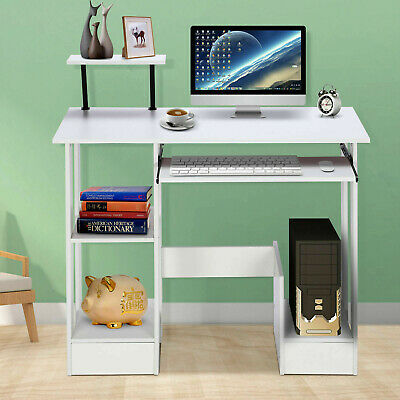PC Computer Desk Writing Study Table Office Home Workstation Wooden Study 90CM