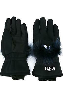 Fendi Bag Bugs Fox Fur Ski Gloves Medium