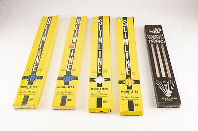 Vintage Mid Century Modern Flower Taper Candles 5 Boxes