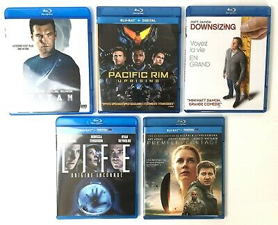Blu Ray LIFE + TITAN + PACIFIC RIM + DOWNSIZING + PREMIER CONTACT