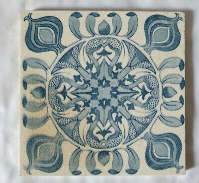 Lovely Arts & Crafts Style Antique 19Th Century 6 Inch Tile