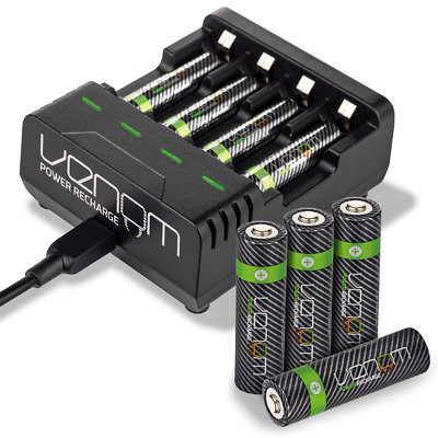 Venom Power Rechargeable AAA / AA Batteries and Intelligent Charging Dock