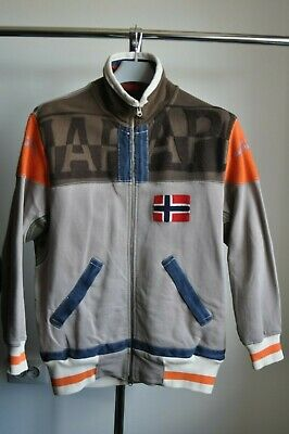 NAPAPIJRI Mens Tracksuit Top Jacket Hoodie Cotton Full Zip Size L(M)