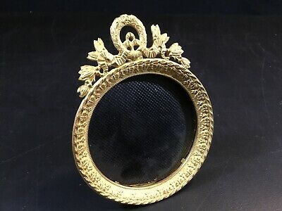 ANTIQUE FRENCH GILT BRONZE BRASS PHOTO FRAME,LOUIS XVI STYLE LATE 19th CENTURY