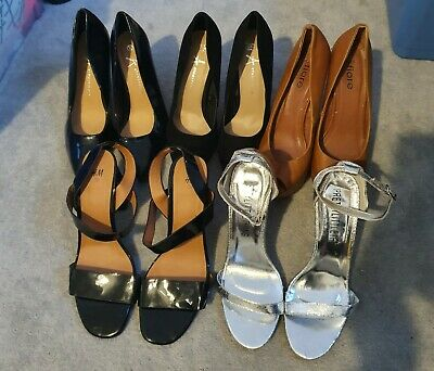 Ladies Shoe Bundle Size 6 5 Pairs H&M PLT Fiore Block Heel Stilleto Sandles