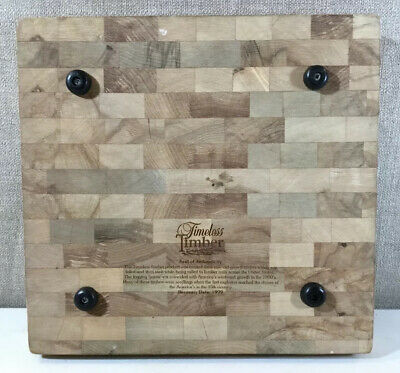 "Timeless Timber Recovered Timber Cutting Board Chopping Block 12""x12"" Dated 1999"
