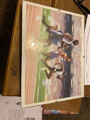 Linford Christie Hand Signed Photo